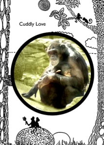 Chimp Mom Greeting Card